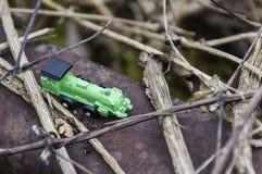 зеленый поезд игрушки Стоковые Изображения RF