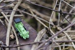 зеленый поезд игрушки Стоковые Изображения