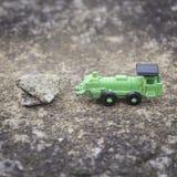 зеленый поезд игрушки Стоковые Фотографии RF