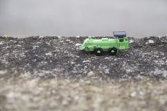 зеленый поезд игрушки Стоковые Фото