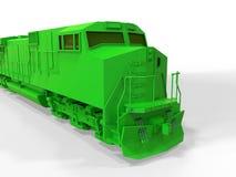 зеленый поезд Стоковые Фото