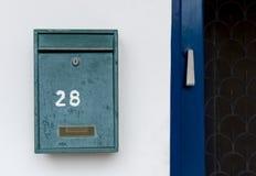 Зеленый почтовый ящик металла Стоковое фото RF