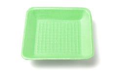 Зеленый поднос стиропора Стоковое Изображение RF