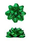 Зеленый присутствующий смычок праздника Стоковое Изображение