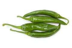 Зеленый пук chilies Стоковое Изображение