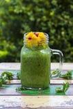 Зеленый пудинг семени Chia стоковые фотографии rf