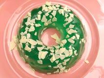 зеленый пудинг Стоковая Фотография