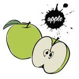 Зеленый плодоовощ яблока стоковое фото rf