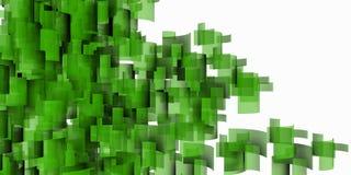 Зеленый расти здания бесплатная иллюстрация