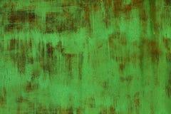 Зеленый ржавый текстурированный стальной металлический лист Стоковое Изображение RF