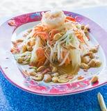 зеленый салат папапайи стоковая фотография