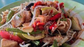 Зеленый салат папапайи Стоковое Фото
