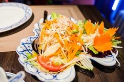 зеленый салат папапайи Стоковое Изображение RF