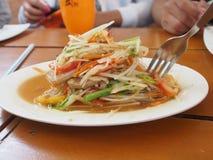 Зеленый салат папапайи стоковые изображения rf