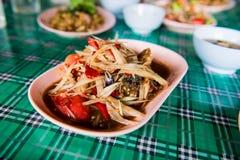 Зеленый салат папапайи Стоковое фото RF