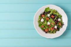 зеленый салат плиты Стоковые Изображения RF