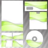 Зеленый свежий комплект канцелярских принадлежностей swoosh eco Стоковая Фотография RF