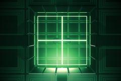Зеленый свод, цифровая безопасность Стоковые Изображения
