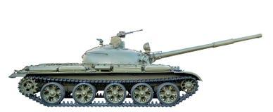 Зеленый советский танк T-62 изолированный на белой предпосылке Стоковые Фото