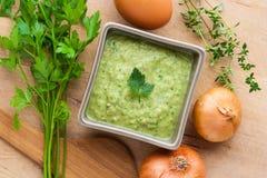 Зеленый соус Стоковые Изображения