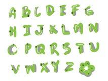 Зеленый стиль шрифта Стоковые Изображения