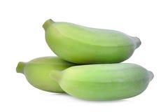 Зеленый сырцовый культивируемый банан изолированный на белизне Стоковая Фотография RF