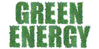 Зеленый текст энергии Стоковое Фото
