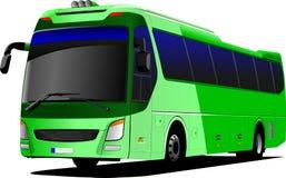 Зеленый туристический автобус карета Стоковое Изображение