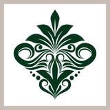 Зеленый флористический орнамент Стоковая Фотография