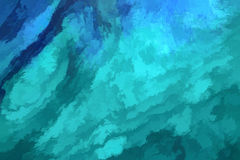 зеленый цвет абстрактной предпосылки голубой Стоковые Изображения