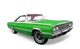 зеленый цвет автомобиля классицистический стоковые фотографии rf