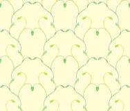 Зеленый цвет акварели разветвляет безшовная предпосылка Стоковая Фотография