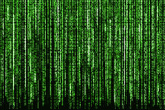 зеленый цвет бинарного Кода Стоковое фото RF