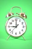 Зеленый цвет будильника Стоковая Фотография