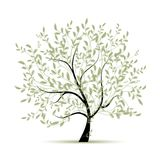 Зеленый цвет вала весны для вашей конструкции Стоковые Фотографии RF