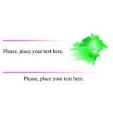 Зеленый цвет визитной карточки Стоковые Изображения