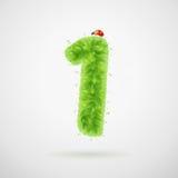 Зеленый цвет выходит алфавит с ladybird Лето экологичности 1 Бесплатная Иллюстрация