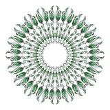 Зеленый цвет выходит вокруг patten Стоковые Фото