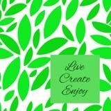 зеленый цвет выходит картина безшовно Значки на белой предпосылке также вектор иллюстрации притяжки corel Иллюстрация штока