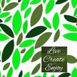 зеленый цвет выходит картина безшовно Значки на белой предпосылке также вектор иллюстрации притяжки corel Иллюстрация вектора