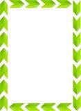 Зеленый цвет выходит картинная рамка с белой предпосылкой, космосом экземпляра Стоковые Изображения