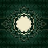 Зеленый цвет года сбора винограда рамки Стоковое фото RF