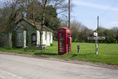 Зеленый цвет деревни Stainton Le пустоши Вейл, Линкольншира, Англия, u Стоковое Изображение