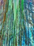Зеленый цвет и текстура краски капания Брайна Стоковая Фотография RF