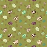 Зеленый цвет картины пасхальных яя безшовный Стоковая Фотография RF