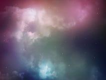 Зеленый цвет конспекта ночи неба Стоковое Изображение