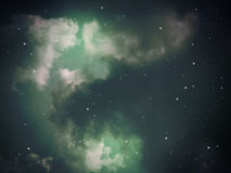 Зеленый цвет конспекта ночи неба Стоковые Фотографии RF