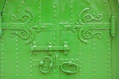 Зеленый цвет обул старинные ворота Стоковое Изображение
