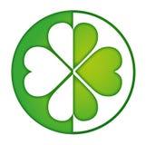 Зеленый цвет логотипа клевера Стоковые Изображения RF