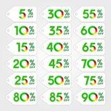 Зеленый цвет логотипа скидки Стоковые Фото
